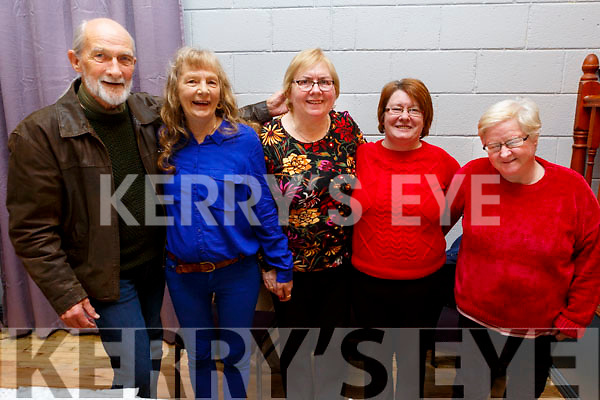 Enjoying the Connolly Park Residents Christmas party in the Austin Stacks Clubhouse on Sunday.<br /> L to r: Terence McGoldrick, Marian Locke, Chris Best, Christene Guerin and Francis Walsh.