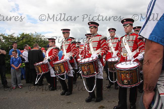 Black Skull Flute Band, Glasgow in the County Grand Orange Lodge of Central Scotland Parade held in Bellshill on 9.7.11