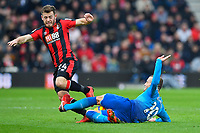 Jack Wilshere of Arsenal tackles Ryan Fraser of AFC Bournemouth during AFC Bournemouth vs Arsenal, Premier League Football at the Vitality Stadium on 14th January 2018