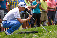 Justin Thomas (USA) lines up his putt on 3 during Rd4 of the 2019 BMW Championship, Medinah Golf Club, Chicago, Illinois, USA. 8/18/2019.<br /> Picture Ken Murray / Golffile.ie<br /> <br /> All photo usage must carry mandatory copyright credit (© Golffile | Ken Murray)