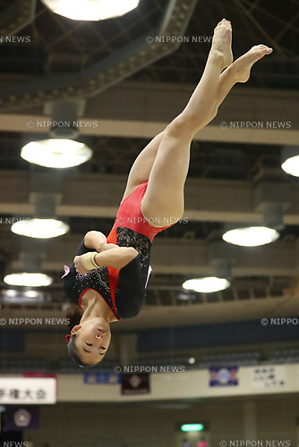 Hinako Bundo (), <br /> AUGUST 21, 2017 - Artistic Gymnastics : <br /> 48th All Japan Junior High School Championships <br /> Women's Individual All-Around <br /> Floor Exercise <br /> at Kitakyushu City General Gymnasium, Fukuoka, Japan. <br /> (Photo by YUTAKA/AFLO)
