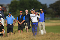 John Pak (USA) on the 17th during Day 2 Singles at the Walker Cup, Royal Liverpool Golf CLub, Hoylake, Cheshire, England. 08/09/2019.<br /> Picture Thos Caffrey / Golffile.ie<br /> <br /> All photo usage must carry mandatory copyright credit (© Golffile | Thos Caffrey)