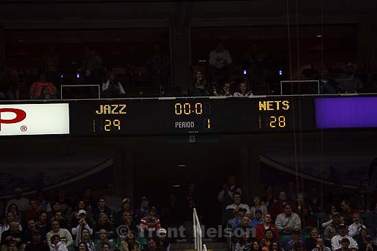 Salt Lake City - Utah Jazz vs. New Jersey Nets. Saturday November 29, 2008.