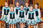 Sheehan Murphy Killarney Under 15 3 Hand and Under 12 4 Hand Front L-R Katie Mchugh, Clodagh Murphy and Emer O'Sullivan, Back L-R Rachel Moynihan, Sarah Randels, Leah moynihan and Nora Burke at the All Ireland Irish Dancing in the INEC Killarney last Wednesday.