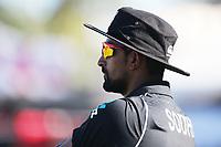 New Zealand's Ish Sodhi. New Zealand Blackcaps v England. One Day International Cricket. Seddon Park, Hamilton, New Zealand on Sunday 25 February 2018.<br /> <br /> Copyright photo: &copy; Bruce Lim / www.photosport.nz