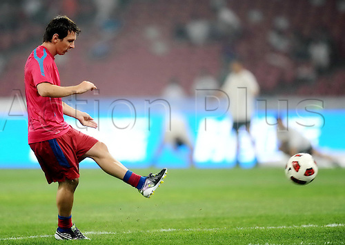 Aug 08, 2010; Beijing, CHINA; FC Barcelona of Spain defeats Beijing Guoan of China in a friendly match at the National Stadium, also known as the Bird's Nest. Lionel Messi.