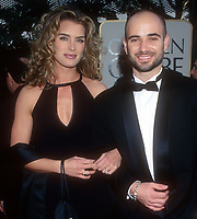 Brooke Shields Andre Agassi 1997<br /> Photo By Michael Ferguson/PHOTOlink.net