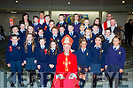Mr Ciaran O Muircheartaigh class from St Olivers NS with Bishop Ray Browne and at their Confirmation in the Church of the Ressurection on Friday