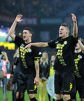 Fussball 1. Bundesliga :  Saison   2010/2011   32. Spieltag  21.04.2012 Borussia Dortmund - Borussia Moenchengladbach Jubel nach dem SIEG zur Deutschen Meisterschaft Sebastian Kehl mit Lukasz Piszczek (v. li., Borussia Dortmund)