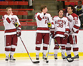 Colin Moore (Harvard - 12), Alex Fallstrom (Harvard - 16), Conor Morrison (Harvard - 38), Marshall Everson (Harvard - 21) - The Boston University Terriers defeated the Harvard University Crimson 6-5 in overtime on Tuesday, November 24, 2009, at Bright Hockey Center in Cambridge, Massachusetts.