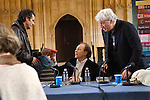 Geraint Lewis, Javier Marias and Kevin Jackson in the Divinity School at the Bodleian Library during the Sunday Times Oxford Literary Festival, UK, 16 - 24 March 2013. <br />