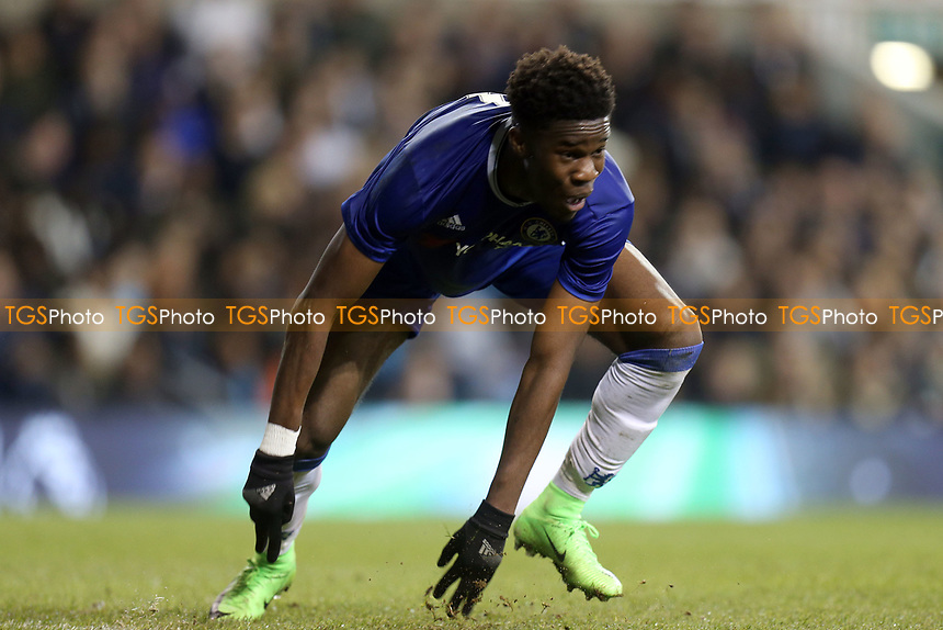Ike Ugbo of Chelsea celebrates scoring the second goal during Tottenham Hotspur Youth vs Chelsea Youth, FA Youth Cup Football at White Hart Lane on 14th March 2017
