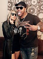 ALPHARETTA, GA - OCTOBER 27: Fergie and Flo Rida backstage at Q100's Q-Topia in Alpharetta, Georgia on October 27, 2017. Credit: Walik Goshorn/MediaPunch /NortePhoto.com
