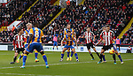 Stefan Scougall of Sheffield Utd scoring his goal during the English League One match at the Bramall Lane Stadium, Sheffield. Picture date: November 19th, 2016. Pic Simon Bellis/Sportimage