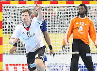 18.01.2013 Barcelona, Spain. IHF men's world championship, prelimanary round. Picture show Martin Strobel  in action during game between France vs Germany at Palau St Jordi