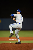 Dunedin Blue Jays relief pitcher Ty Tice (5) during a game against the Charlotte Stone Crabs on June 5, 2018 at Charlotte Sports Park in Port Charlotte, Florida.  Dunedin defeated Charlotte 9-5.  (Mike Janes/Four Seam Images)
