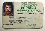 Robert Landau press pass circa early 1980s