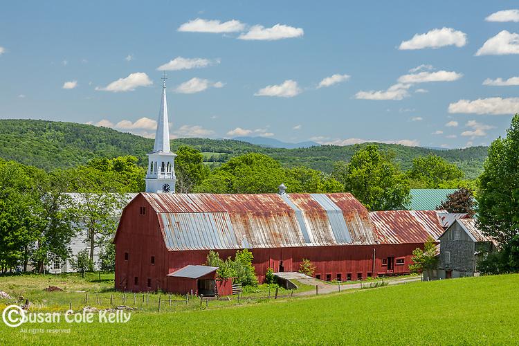 Farmland in Peacham, VT, USA