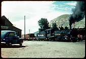 K-27 #453 as the Durango switcher with Telluride Iron Works to left.<br /> D&amp;RGW  Durango, CO