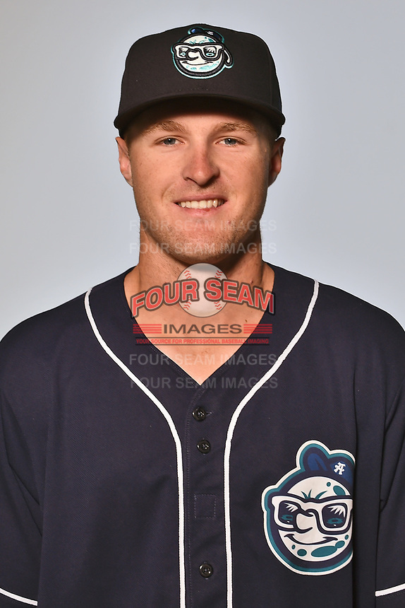 Asheville Tourists infielder Tyler Nevin (23) poses for a photo at Story Point Media on April 4, 2017 in Asheville, North Carolina. (Tony Farlow/Four Seam Images)