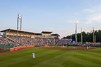 A general view during a game between the Jackson Generals and Chattanooga Lookouts at AT&T Field on May 8, 2015 in Chattanooga, Tennessee. (Brace Hemmelgarn/Four Seam Images)
