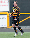 Alloa's Andy Kirk celebrates after he scores their second goal.