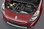 High angle engine detail of a 2009 Renault Clio Pack GT Wagon .