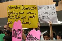 CAMPINAS, SP, 08.08.2019: POLÍTICA-SP - Em meio a protestos e apoio a ministra do Ministério da Mulher, da Familia e dos Direitos Humanos, Damares Alves, participa de palestra na Câmara Municipal de Campinas, interior de São Paulo, nesta quinta-feira (08). (Foto: Luciano Claudino/Código19)