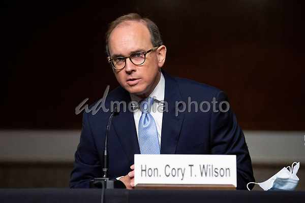 Cory Wilson testifies before the U.S. Senate Committee on the Judiciary on Capitol Hill in Washington D.C., U.S., as they consider his nomination to be United States Circuit Judge For The Fifth Circuit on Wednesday, May 20, 2020.  Credit: Stefani Reynolds / CNP/AdMedia