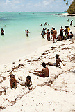 MAURITIUS, people enjoy a hot and sunny day at the beach, Ile aux Cerfs Island, the Indian Ocean