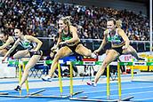 2nd February 2019, Karlsruhe, Germany;  60m Womens Final: Cindy Roleder (GER, 2nd place), Nadine Visser (NED, winner) (from left). IAAF Indoor athletics maeeting, Karlsruhe