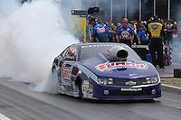 Apr. 28, 2013; Baytown, TX, USA: NHRA pro stock driver Jason Line during the Spring Nationals at Royal Purple Raceway. Mandatory Credit: Mark J. Rebilas-