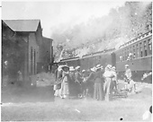 D&amp;RG Colorado-New Mexico Express halted at Toltec Section House. Group of lady passengers on the ground.<br /> D&amp;RG  Toltec Section House, CO  ca. 1913-1917