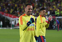 BOGOTÁ - COLOMBIA, 25-05-2018:David Ospina guardameta durante la despedida de la Selección Colombia de fútbol  de mayores  que participará en el Mundial de Rusia 2018 de la hinchada de todo el país y de los asistentes al estadio Nemesio Camacho El Campín de Bogotá. /David Ospia during the farewell to the Colombian Soccer Team that will participate in the World Cup in Russia 2018 of fans from all over the country and the people who attended the Nemesio Camacho El Campin Stadium in Bogotá. Photo: VizzorImage / Felipe Caicedo / Staff.