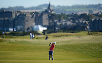 Nick Cullen of Australia hits an approach during Round 1 of the 2015 Alfred Dunhill Links Championship at the Old Course, St Andrews, in Fife, Scotland on 1/10/15.<br /> Picture: Richard Martin-Roberts | Golffile