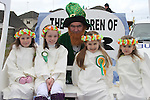 Kelsey, Louise, Elisha and Amy with Eugene at the 2011 St.Patrick's Day Parade in Drogheda...(Photo credit should read Jenny Matthews/www.newsfile.ie)....This Picture has been sent you under the conditions enclosed by:.Newsfile Ltd..The Studio,.Millmount Abbey,.Drogheda,.Co Meath..Ireland..Tel: +353(0)41-9871240.Fax: +353(0)41-9871260.GSM: +353(0)86-2500958.email: pictures@newsfile.ie.www.newsfile.ie.