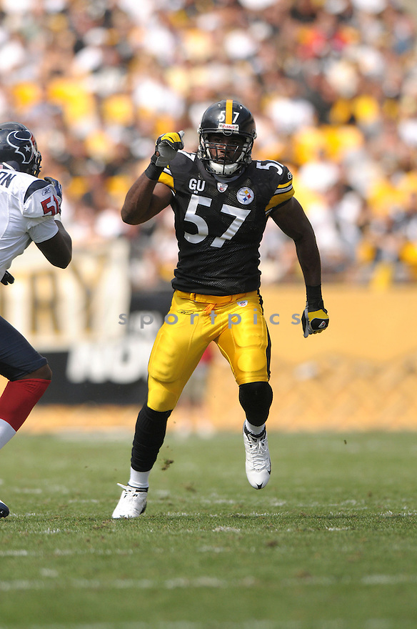 KEYARON FOX, of the Pittsburgh Steelers, in action during the Steelers game against the Houston Texans  in Pittsburgh, Pennsylvania on September 7, 2008..The Pittsburgh Steelers won 38-17