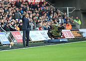 4th November 2017, Liberty Stadium, Swansea, Wales; EPL Premier League football, Swansea City versus Brighton and Hove Albion; Chris Hughton, Manager of Brighton gestures during the game