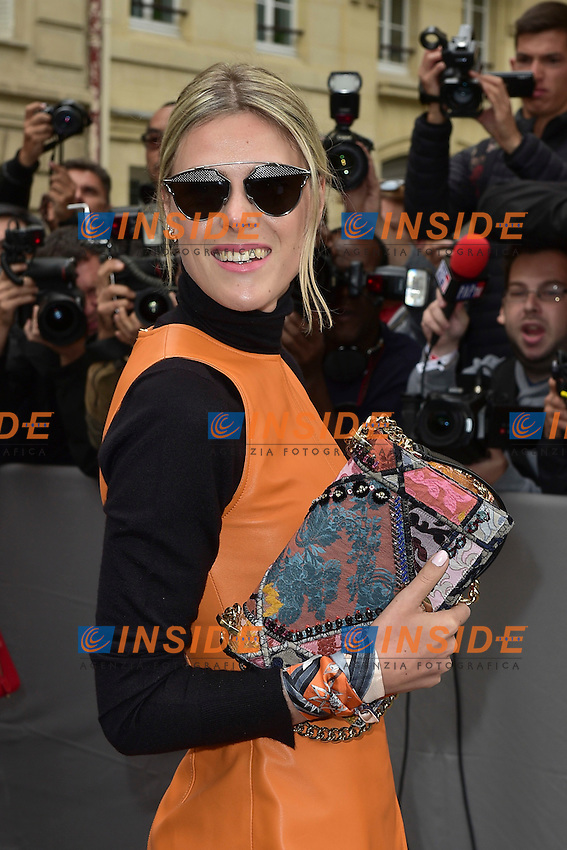 Sofie Valkiers <br /> Dior fashion show arrivals - Paris - 30/09/2016