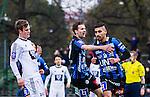 Uppsala 2014-05-07 Fotboll Superettan IK Sirius - &Ouml;stersunds FK :  <br /> Sirius Stefan Silva har gjort 1-0 p&aring; straff i den f&ouml;rsta halvleken och gratuleras av Sirius Jonatan Berg <br /> (Foto: Kenta J&ouml;nsson) Nyckelord:  Superettan Sirius IKS &Ouml;stersund &Ouml;FK jubel gl&auml;dje lycka glad happy