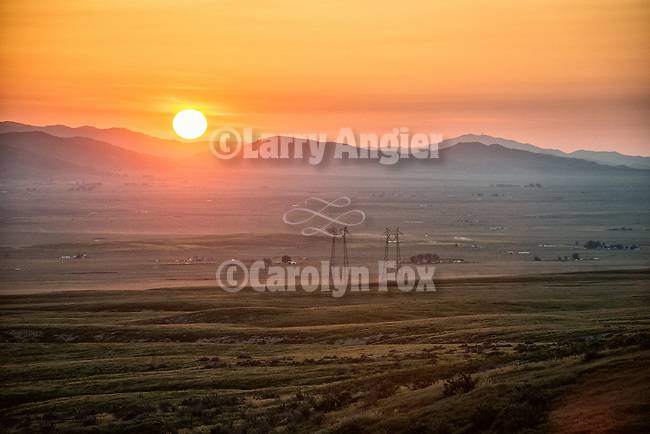 Sundown over the La Panza Range in California Valley, San Luis Obispo County, Calif.