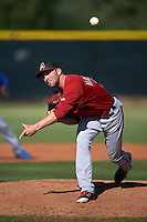 Arizona Diamondbacks pitcher Steve Hathaway (15) during an instructional league game against the Los Angeles Angels / Chicago Cubs co-op team on October 9, 2015 at the Tempe Diablo Stadium Complex in Tempe, Arizona.  (Mike Janes/Four Seam Images)