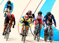 Picture by Alex Whitehead/SWpix.com - 10/12/2017 - Cycling - UCI Track Cycling World Cup Santiago - Velódromo de Peñalolén, Santiago, Chile - USA's Madalyn Godby wins in the Women's Keirin first round.