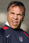 22 January 2006: Bruce Arena, pregame. The United States Men's National Team tied Canada 0-0 at Torero Stadium in San Diego, California in an International Friendly soccer match.