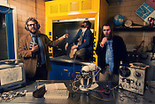 Megafaun; Bad Cook, Phil Cook, Joe Westerlund. Photo by D.L. Anderson