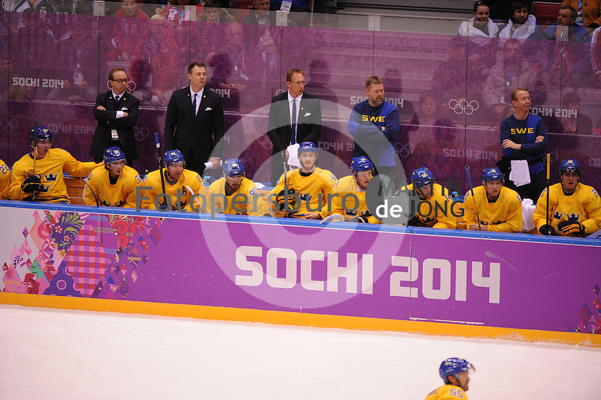 OLYMPICS: SOCHI: Bolshoy Ice Dome, 14-02-2014, Ice Hockey, Men's Prelim. Round Group C, Sweden-Switzerland, result: 1-0, ©photo Martin de Jong