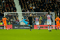 3rd March 2020; The Hawthorns, West Bromwich, West Midlands, England; English FA Cup Football, West Bromwich Albion versus Newcastle United; Jonathan Bond of West Bromwich Albion dives for the shot which goes just wide