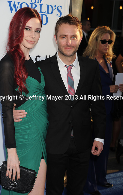 HOLLYWOOD, CA- AUGUST 21: (L-R) Actors Chloe Dykstra and Chris Hardwick arrive at the Los Angeles premiere of 'The World's End' at ArcLight Cinemas Cinerama Dome on August 21, 2013 in Hollywood, California.