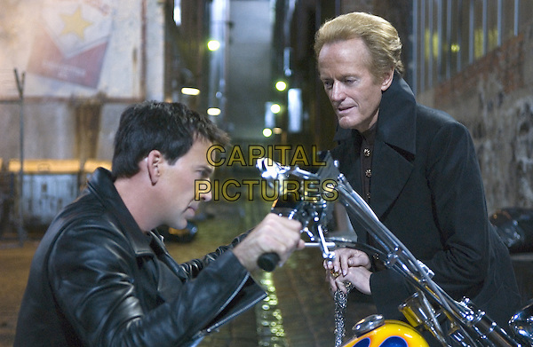 Nicolas Cage, Peter Fonda<br /> in Ghost Rider (2007) <br /> *Filmstill - Editorial Use Only*<br /> CAP/NFS<br /> Image supplied by Capital Pictures