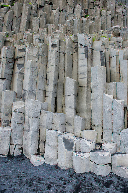 Basalt columns at Halsanefshellir, a cliff in southern Iceland not far from the village Vík.